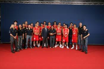 Foto Oficial Equipo Senior Baloncesto Masculino. España. Eurobasket 2007