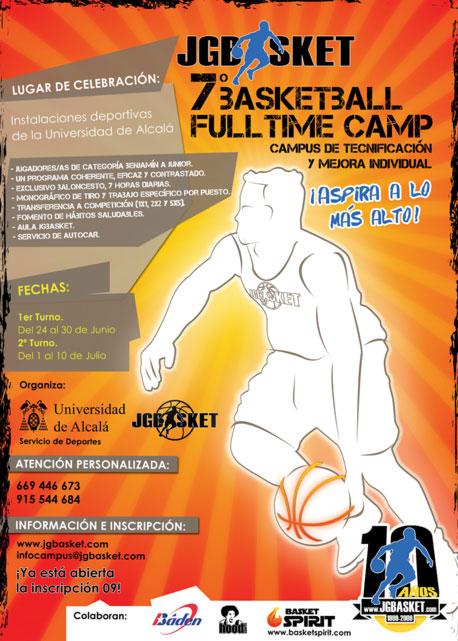 Campus Baloncesto 09. Cartel Ofícial JGBasket